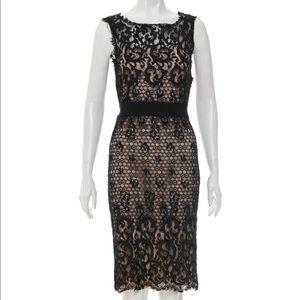 Dvf Diane von furstenberg black lace dress us 4